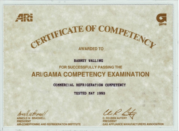 ARI-GAMA02 | Barney's Air Conditioning and Heating, Inc.